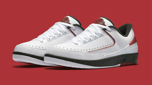 695bf50eb7d3ea Nike Air Jordan 2 low size 12.5. 832819-101. White Red Black. Bred ...