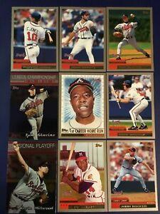 2000-Topps-ATLANTA-BRAVES-Complete-Team-Set-19-w-HANK-AARON-Cards-Sharp-LOOK