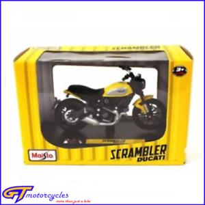 Dettagli Su Genuine Ducati Scrambler Icona Giallo Maisto 118 Modello Pressofuso Moto Bici Mostra Il Titolo Originale