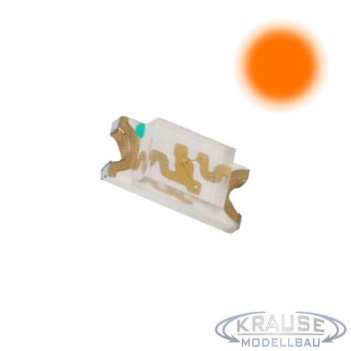 SMD LED 1206 orange klar Elektronik Modellbahn Modellbau Leuchtdiode 100 Stück