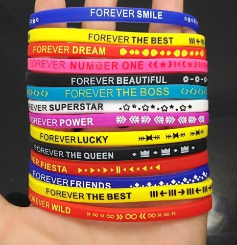 50 forever bracelet silicone hommes femmes enfants couleur variété charme bijoux