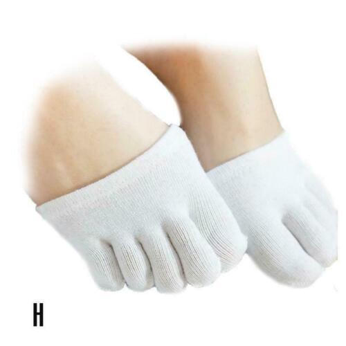 Women Invisible Socks Non-Slip Five Fingers Half Toe Relief Socks Stress Pa D8U2