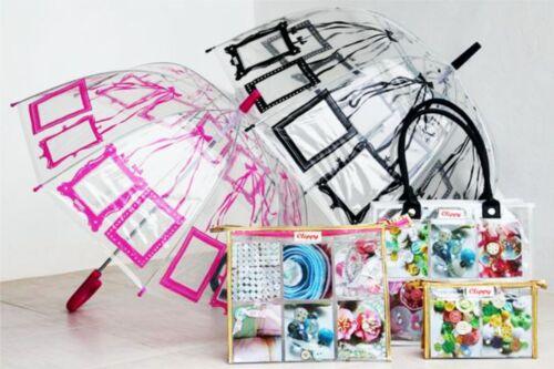 Childrens Adults Umbrella Fun Photo Personalise Dome Design Brolly Boys Girls