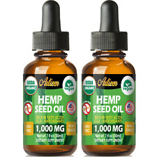 Best Hemp Oil Extract for Pain Relief, Stress, Sleep (PURE & ORGANIC) - 1000 mg