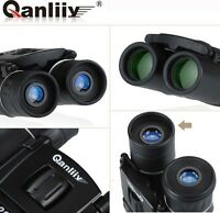 Us Qanliiy 20x22 Pocket-size Portable Hd Night Vision Match Binoculars Telescope