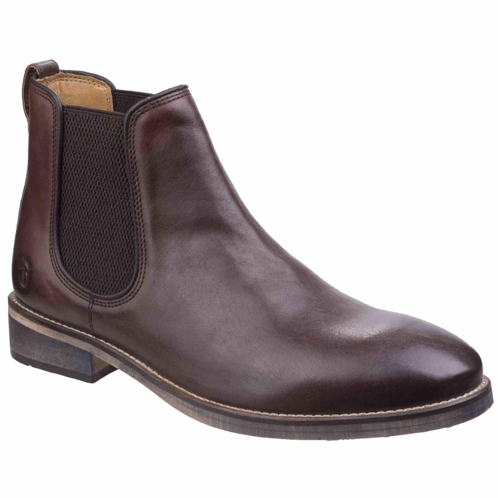 Cotswold Corsham botas De Cuero Marrón Oscuro para Hombre