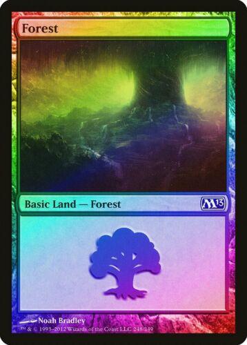 Forest M13 PLD Basic Land MAGIC MTG CARD ABUGames FOIL Magic 2013 248