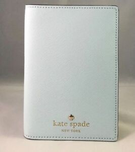 ca69a1ccf559 Details about KATE SPADE mikas pond passport holder case wallet leather  island waters blue new