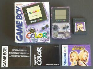 Nintendo-Game-Boy-Color-Atomic-Purple-Box-System-Manuals-amp-Game