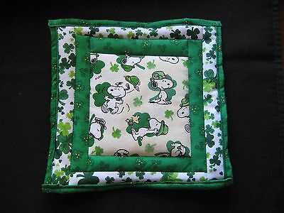 Snoopy, St Patrick's Day, Potholders, Made In Usa, (#q2) El Precio Se Mantiene Estable