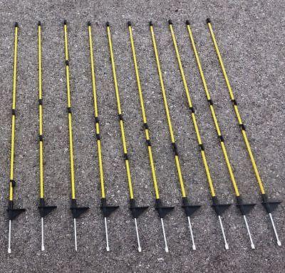 10x Carbonfaser ZaunsteherZaunpfahl für z.B. Callieway