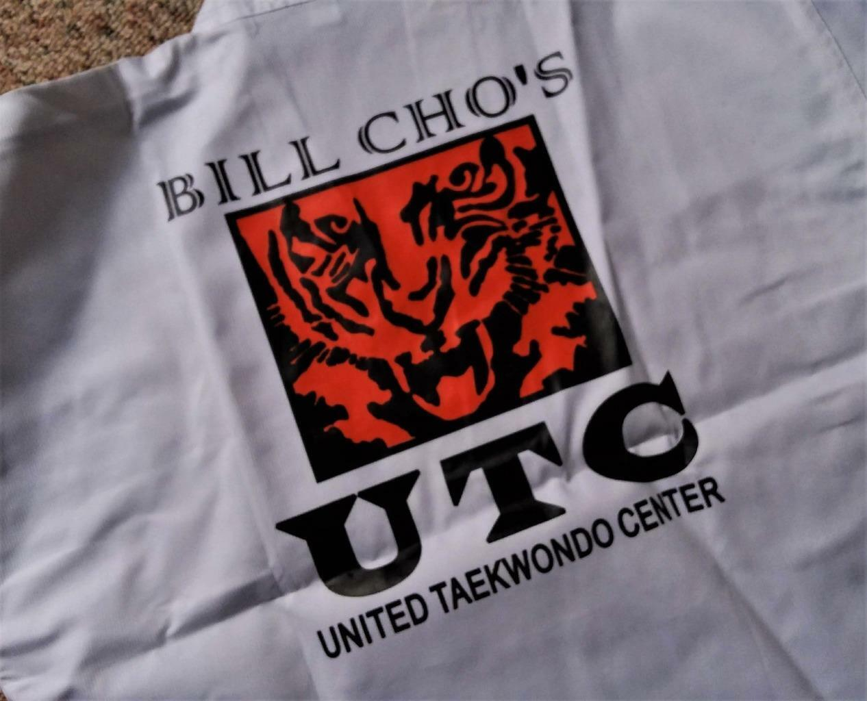 Size 4 Bill Cho's UTC Martial  Arts Karate United TaeKwonDo Center Uniform White  fast shipping and best service