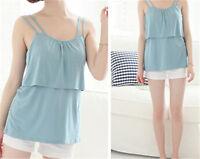 Maternity Breastfeeding Clothes Summer Tees Sleeveless Nursing Shirt Tank Tops