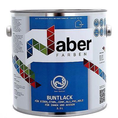 (11,20 €/l) 2,5 Liter - Buntlack - Ral 5014 Taubenblau - Seidenglanz Reinweiß Und LichtdurchläSsig