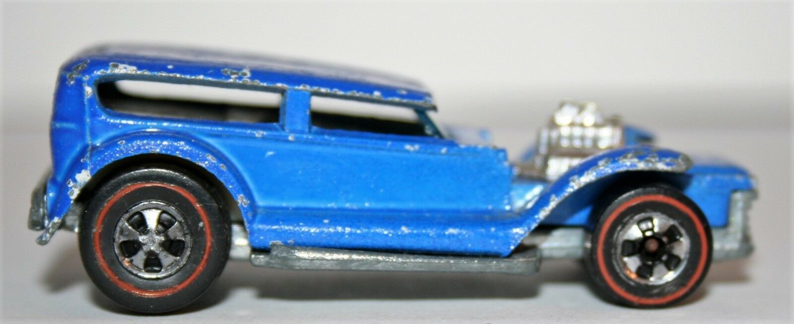 Vintage Rare 1973 Mattel Hot Wheels Redline bluee Prowler Red Line 6965