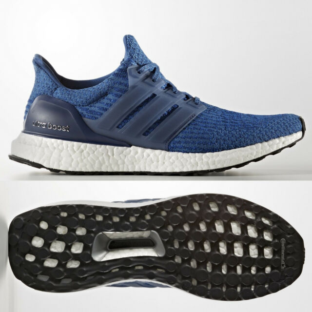 on sale 25ce5 5d911 adidas Mens Ultra Boost Mystery Blue Running Shoes BA8844 UltraBOOST