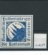 wbc. - CINDERELLA/POSTER - CE07 - EUROPE- LUTHERJAHR - EISLEBEN - 1933