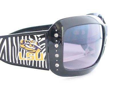Sports Accessory Store Louisiana State LSU Tigers Black Fashion Crystal Sunglasses S4JT