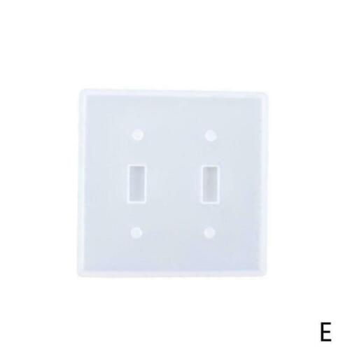 Silicone Mould Epoxy Resin Molds USB Socket Panel Light Switch DIY Covers D8F8