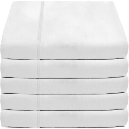 Wholesale Lot Twin Twin XL Flat Top Premium Ultra-Soft Bed Sheets White