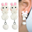 Coniglio-Coniglietto-Orecchini-a-Farfalla-Animale-in-Bambini miniatura 1