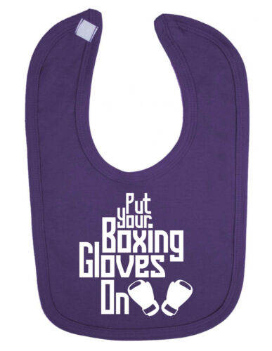 Put your Boxing Gloves on Newborn Toddler baby Bib