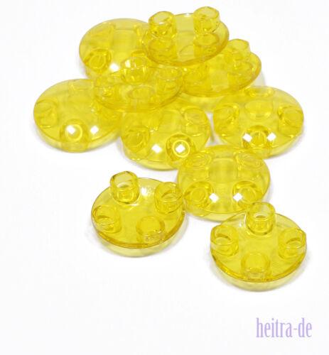 gelb LEGO 10 x Gleitfliese Gleitfuss rund 2x2 transparent 2654 NEUWARE