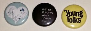 PETER-BJORN-AND-JOHN-PINBACK-PIN-BUTTON-SET-OF-3-YOUNG-FOLKS-LIVING-THING-TOUR