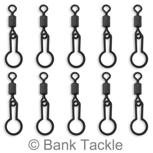 PVA Ring Swivels x 10 Size 8 Black Quick Change PVA Bags and Mesh Carp Rigs SV1