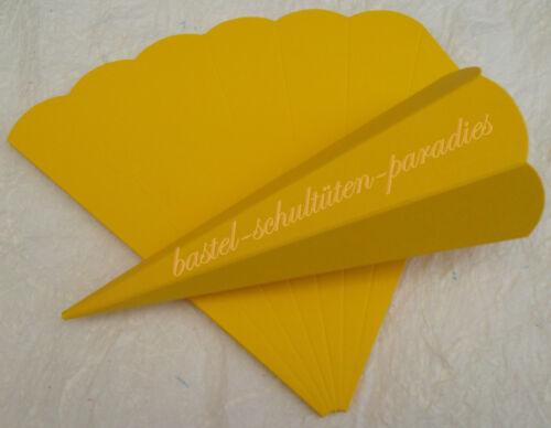 Stck 2 Stück Schultütenrohling Fotokarton14 cm *14 Farben 065€// Spitze bastel