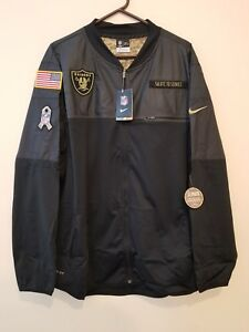 brand new 14887 0d73d Details about OAKLAND RAIDERS 2016 NIKE NFL SALUTE TO SERVICE HYBRID JACKET  2XL