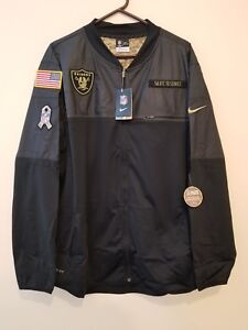 brand new 5f130 132e6 Details about OAKLAND RAIDERS 2016 NIKE NFL SALUTE TO SERVICE HYBRID JACKET  2XL