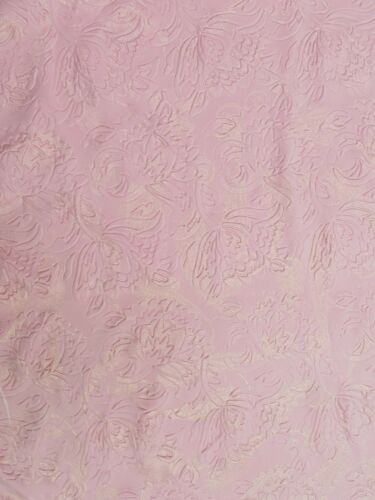 Polyester Textured Spandex 2 Ways Stretch Floral Design W//Gold Paisley Foil