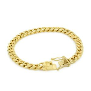 Image Is Loading Stainless Steel 18k Gold Plated Miami Cuban Link
