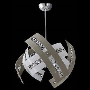 Lampadari Da Salone Moderni.Dettagli Su Lampadario Moderno Plexiglass Cristallo 3luci Sospensione Soggiorno Salone Camer