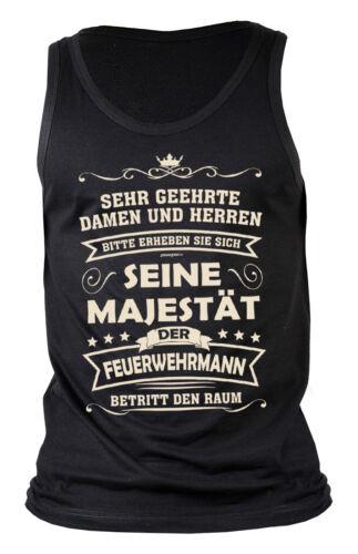 Feuerwehr Feuerwehr Motiv Shirt Feuerwehrmann Trägershirt Sprüche T-Shirt