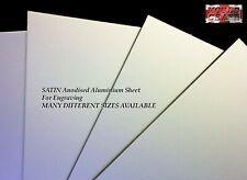 15mm Anodised Aluminium In Satin Sheets Laser Safe For Crafts Models Diy