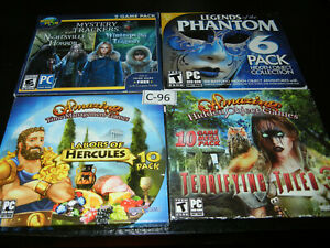 4 Lot 28 Games Total Hidden Object Puzzle Adventures Mysteries Windows New Ebay