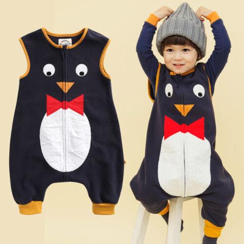 "Vaenait Baby Toddlers Kids Fleece Pajamas Sleeping Blanket /""P.Tie Penguin/"" 1-7T"