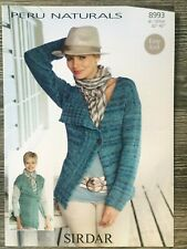 Original Sirdar Peru Naturals Knit Pattern Lady's Easy Knit