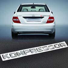 3D Chrome Kompressor Badge Emblem for SLK CLK SL CLS GL A B C E S Class Sticker