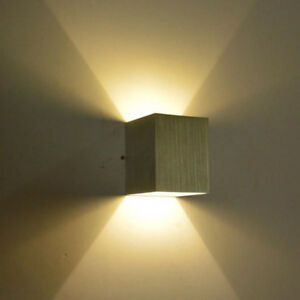 Recessed Mounted 3w Led Wall Lights Up Down Lighting Wall Sconce Lamp Fixture Ebay