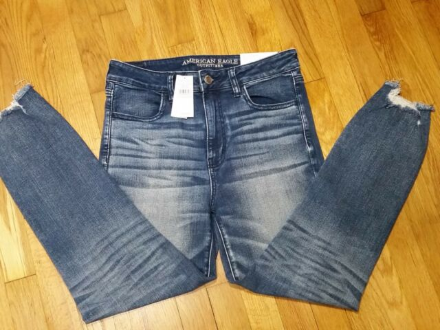 d4fad678 American Eagle Hi Rise Jegging Crop Jeans Size 20 r Next Level Stretch X NWT
