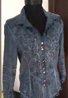 Botega by ELISA CAVALETTI Women's Casual Blouse Shirt Bono Long Sleeve Size L