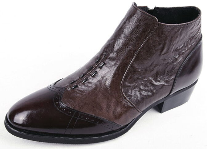 Mens Dress Formal Business Stylish Wingtip Genuine Leather Ankle Boots shoes