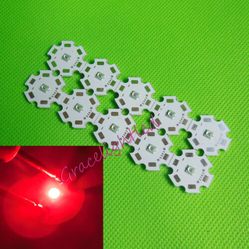 20 mm pcb Lámpara de 2pcs 3W 660nm 3535 profundo rojo alta potencia LED F crecimiento de la planta del grano