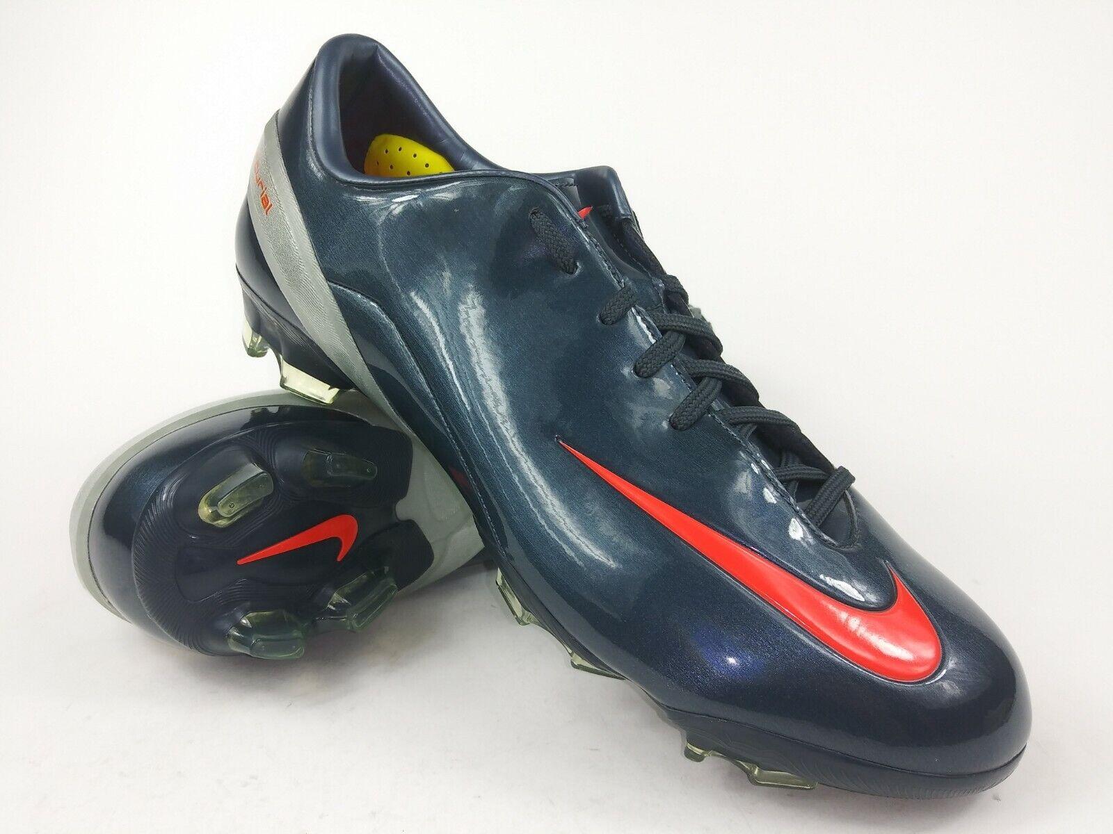 Nike Hombre Rareza Talaria IV Fg Plata Azul Marino 317766-081 Fútbol Tacos botas