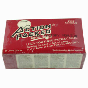 Details about 1993 Action Packed Baseball Series 2 Hobby Dealer Box Factory  Sealed (24 Packs)