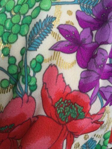 4 shirt dress Up Beach Cover gold 3 Botto Floral Vintage Sleeve jacket wrap vHwq7qpE