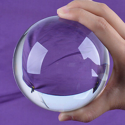 LONGWIN Clear Quartz Crystal Ball 100mm Sphere ORB Photo Props Free Stand
